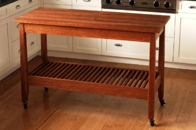 kitchen work table by urban forest furniture handmade
