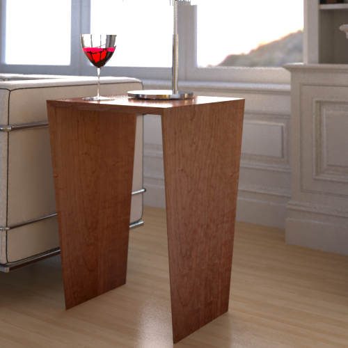 Vee Bedside Table