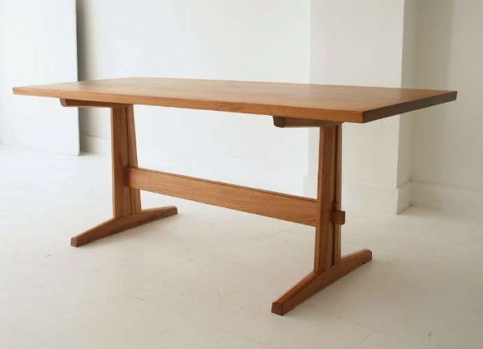 trestle table, by urban forest furniture: custom handmade trestle